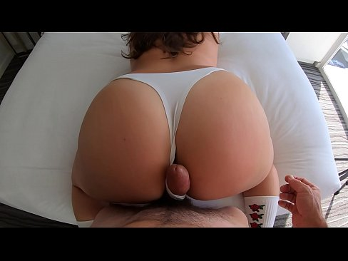 Thick Tourist Girl in White Panties Finds Dick at Her Hotel