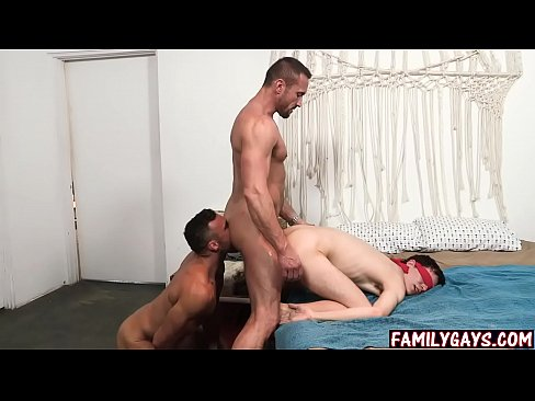 blindfold sex threesome