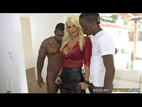 Black Guys Fuck Brittany Andrews In The Ass On Her Cuckold Hubby