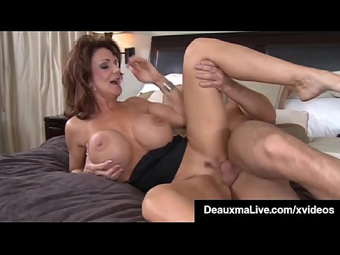 Mature Mommy, Deauxma gets her son's friend's big young cock in her older lady pussy! Full Video & Deauxma Live @ DeauxmaLive.com!