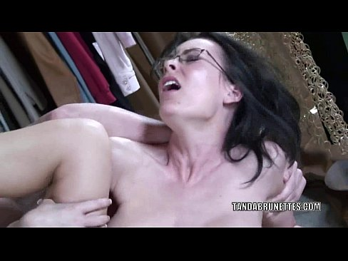 Brunette wife Brandi Edwards takes some cum from a stranger