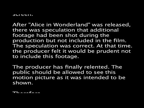 Alice in Wonderland - An X-Rated Musical Fantasy