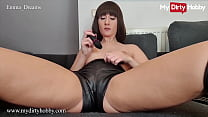 Female Domme (Emma Dreams) Puts On Her Sexy Latex Outfit And Teases Her Pussy - MyDirtyHobby