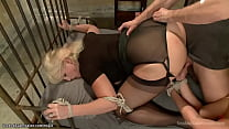 Huge tits bound MILFs are fucked
