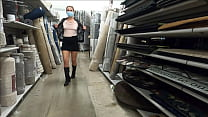 Prostitute Hotwife Flashes In Store And Gives B
