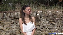 Petite brunette Ciara takes a big cock in her pussy