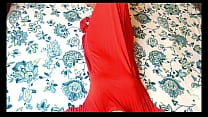 indian desi bhabhi fucked hard with husband friend in red dress with hindi