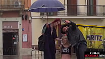 Public Slut Humiliated On The Street By Her Str