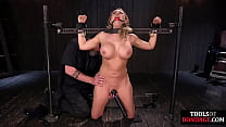 Busty Bdsm Sub Whipped And Toyed Before Riding