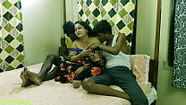 Indian Hot xxx Bhabhi fucking with two brother in law!! Clear dirty talk..