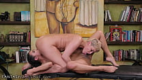 Busty MILF Ryan Keely Has Her Dirty Masseuses Swap-Fucking Her