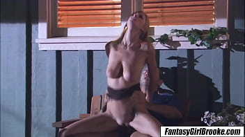 Brooke Banner - Big Natural Tit Are Too Much For Stepdad To Resist
