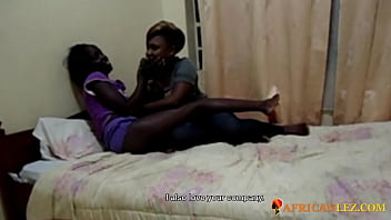 African lesbian couple romatic fingering evening