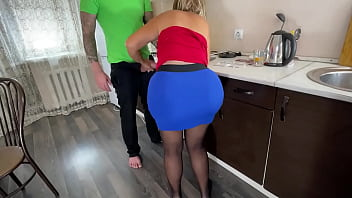 Mom with big ass unexpected anal sex with her son