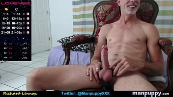 Big Cock Cum Facial on Live Cam with Vibrating Cockring with Gay Daddy Richard Lennox - Manpuppy