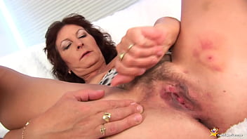 busty 73 years old mom home alone