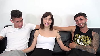 One of the kinkiest babes we've met! Silvia receives her FIRST DOUBLE PENETRATION