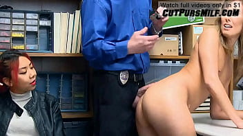 Daughter's Crime Gets Stepmother Fucked From Security Guard - Christy Love