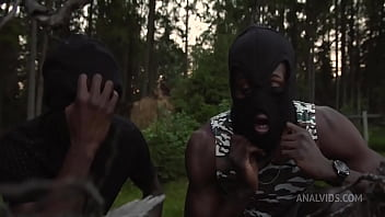 DP 2on1 - Two Black Guys Robbed The House And Took The Anal Virginity Of Aura Sin FLX005