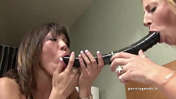Ava Devine and Sara Jay Two sluts with big tits and big asses use toys