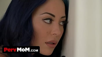 Blue Haired Buxom Milf Makes All Of Her Step Son's Kinky Sex Fantasies Come True When They Are Alone thumbnail