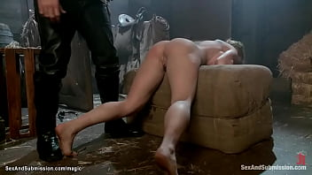 Sold in auction MILF bound fucked