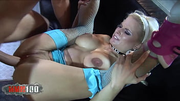 Two blonde rollerblading sluts get fucked hard by two big hard cocks
