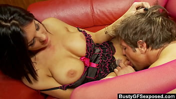 BustyGFSExposed - Stacey Lacey Get Fucked While Lusty Babes Watch Her On TV