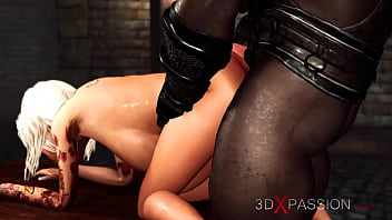 Horny college girl gets hard anal fuck by a black big cock in the dungeon