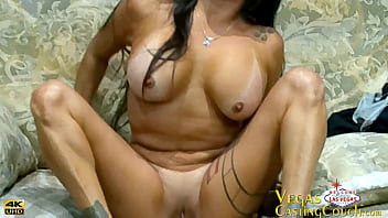 HOT Latino MILF Shows Her Deepthroat Sucking Talent Talent at Casting In Vegas