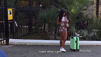 Two guys divorced a Russian whore for sex for money. With dialogue