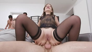 7on1 Double anal Gang Bang goes Wet, Mary Jane, 7on1, BWC, ATM, Balls Deep Anal, DAP, Gapes, Pee Drink, Creampie Swallow GIO1942
