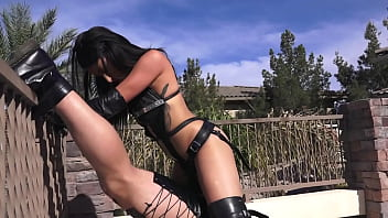 Submissive Hunk Colby Jansen Endures Outdoor Strap On Anal