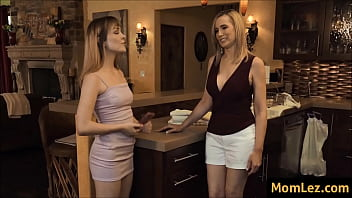 mature stepmom and daughter make out after concert