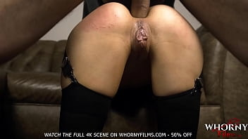 Submissive petite babe in hardcore anal fuck by big cock BDSM ass fetish - WHORNYFILMS.COM