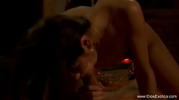 Indian Pleasure Giver Performing Oral Sex Session