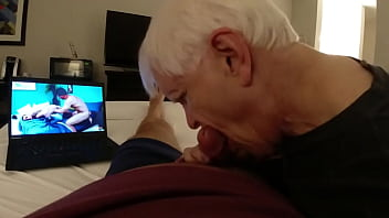Long Sucking Session from Old Horny Amputee Grandpa - Part 1