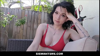 Little Teen Stepsister Caught & Fucked Outdoors By Stepbrother POV -