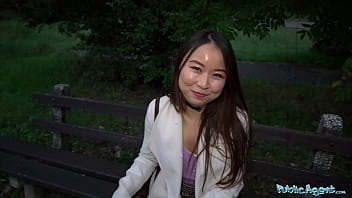 Public Agent Cheeky Asian Wants To Pay To Fuck His Massive Fat Cock