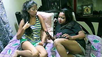 Indian sexy girl shared her boyfriend with her sister!! Real Homemade sex w