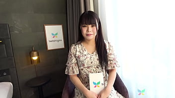 Cute and sexy Japanese Amateur babe comes to interview to be Japan Adult Vi