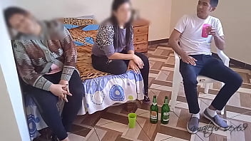 my wife s cuckold we watch a movie while we re already dizzy and my wife s friend grabs my big dick until she puts it all in when my wife rests she almost discovers us min - TRAltyaziliporno.tk Türk Pornosu