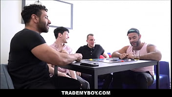 Two Dad'_s Get Swap Fucked By Twink Son'_s During Truth Or Dare - Mateo Zagal, Edward Terrant, William Moore, Teddy Torres