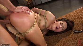 Beautiful slave anal fucked and cummed