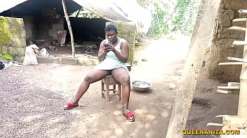 While Sitting At My Grandma's Backyard Chatting With My Boyfriend To Come Me Not Knowing I Was Sitting Naked One Of The Village Local Public Pussy Champion Was Watching My Local Pussy Then He Deceived And Fucked Me