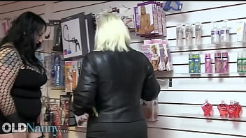 OLDNANNY Mature Lesbian Ladies Lacey Starr And Gabi Gold Got In Sexshop For Some Toys