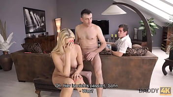 DADDY4K. The man of the house beats up the vagina of GF stepsons