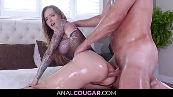 Greased Hot Mil f Anal Fuckery