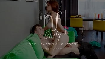 Busty Redhead Queenlin Gives BF A BJ And Titty Fuck - S13:E8
