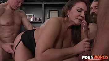 Busty Brunette Natasha Nice DP'ed for Closing the Business Deal